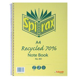 Spirax No.811 A4 Recycled Notebook