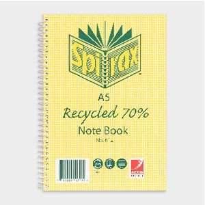 Spirax No.812 A5 Recycled Notebook