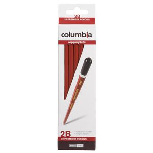 Columbia Copperplate Lead Pencil Hexagonal 2B 20 Pack