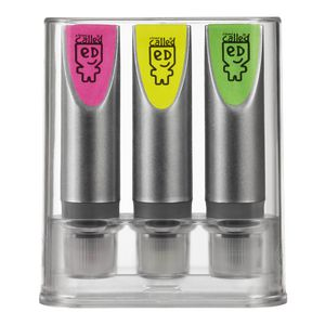 a brand called eD Pack 3 Mini Tube Highlighters