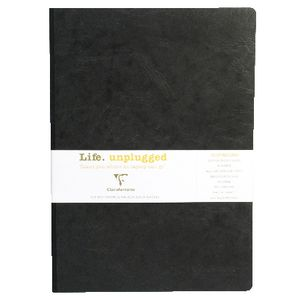 Clairefontaine Essentials A4 Lined Notebook Black