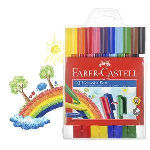 Faber-Castell Connector Pens 10 Pack with 8 Connectors