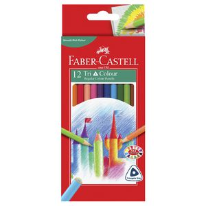 Faber-Castell Triangular Colour Pencils 12 Pack