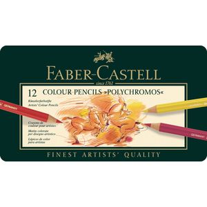 Faber-Castell Polychromos Pencils Tin 12 Pack