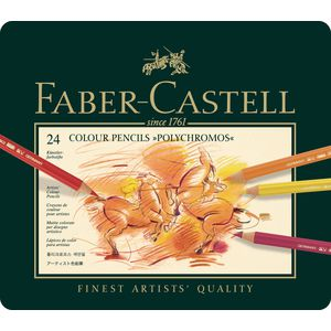 Faber-Castell Polychromos Pencils Tin 24 Pack