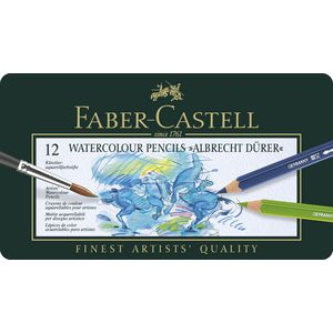 Faber-Castell Albrecht Durer Watercolour Pencils Tin 12 Pack