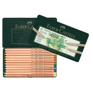 Faber-Castell Pitt Pastel Pencils Tin 12 Pack