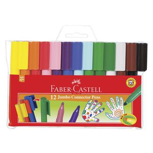 Faber-Castell Jumbo Connector Pens 12 Pack