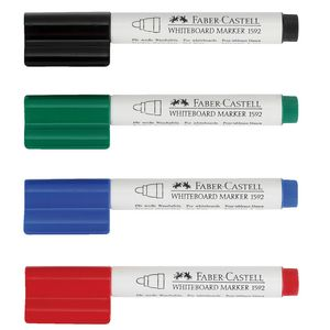 Faber-Castell Connector Whiteboard Markers Assorted 4 Pack