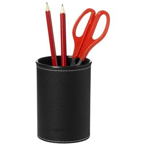 Otto Leather Look Pencil Cup Black