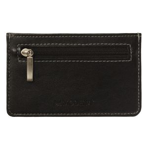 Modena Credit Card Wallet with Zipper Black