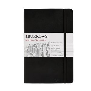 Leather A5 WTV 2014 Diary Black