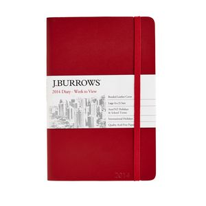 Leather A5 WTV 2014 Diary Red
