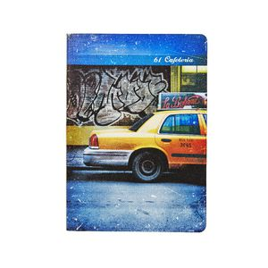 Soft PU Printed A5 Journal 240 Page Taxi