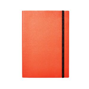 A5 Soft Cover Journal with Elastic 240 Page Neon Pink