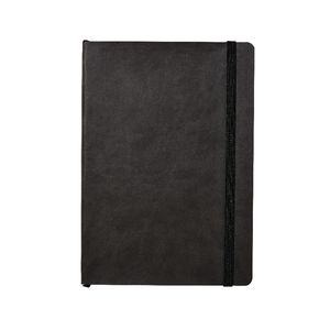 Soft PU A5 Journal with Elastic 240 Page Charcoal