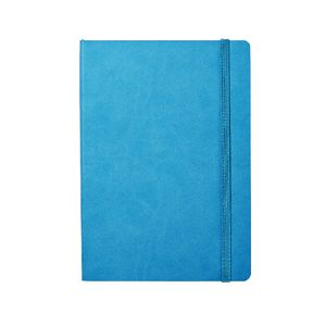 Soft PU A5 Journal with Elastic 240 Page Blue