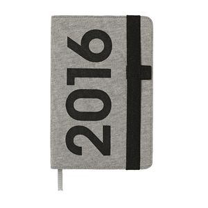 J.Burrows A5 Week to View 2016 Jersey Diary Grey