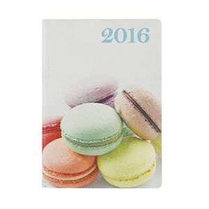 J.Burrows A5 Week to View 2016 Printed Macaroon Diary