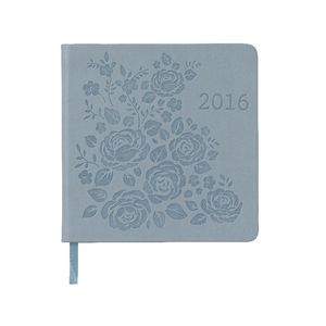 J.Burrows Square Week to View 2016 Printed Diary Blue