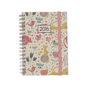J.Burrows A6 Week-to-view 2016 Spiral Diary Cats