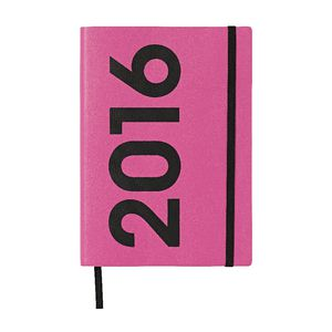 J.Burrows A5 Week to View 2016 Neon PU Diary Purple
