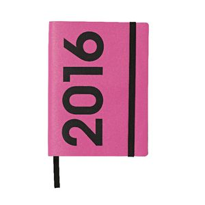 J.Burrows A6 Week to View 2016 Neon PU Diary Purple