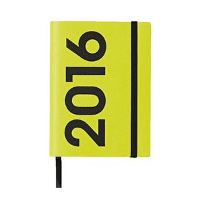 J.Burrows A6 Week to View 2016 Neon PU Diary Lime