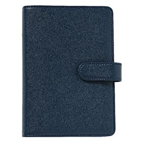 Personal Timeplanner Criss-Cross PU Leather Cover Navy Blue