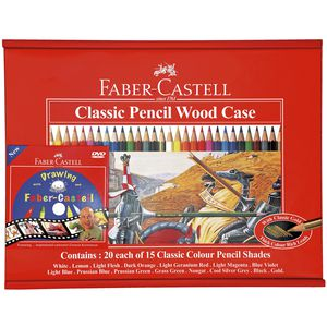 Faber-Castell Classic Colour Pencil Art Woodcase Pack/300
