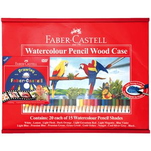 Faber-Castell Watercolour Pencil Art Woodcase Pack/300