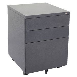 Rapidline 3 Drawer Mobile Pedestal Grey