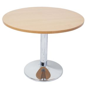 Rapidline Chrome Base Meeting Table 1200mm Round Beech