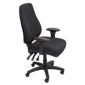 Rapidline Lander Heavy Duty Fabric Executive Chair Black