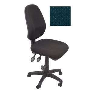 Rapidline Operator Chair Square Back Fully Ergonomic Blue