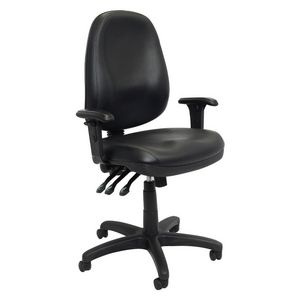 Rapidline Executive Operator Chair PU Heavy Duty Black