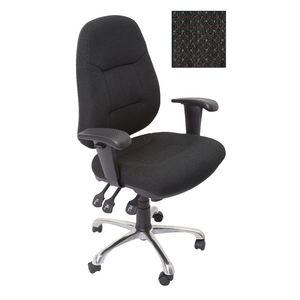 Rapidline Executive Operator Chair Fully Ergonomic Charcoal