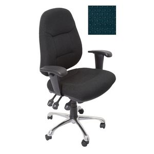 Rapidline Executive Operator Chair Fully Ergonomic Blue