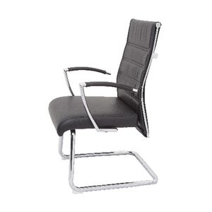 Rapidline Largo Leather Visitor Chair Black