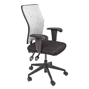 Rapidline Operator Task Chair Mesh Back Silver