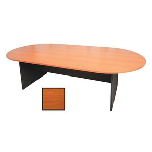 Rapidline Oval Boardroom Table 2400 x 1200mm Cherry