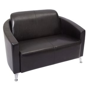 Rapidline Pluto Lounge Chair 2 Seater Black