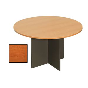 Rapidline Round Table 900mm Cherry and Ironstone