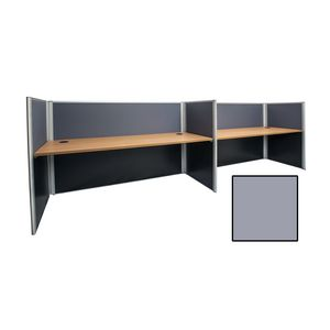 Rapid Screen 2 Person Workstation Grey Screen Beech Top