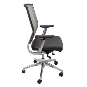 Rapidline Stavro Executive High Back Mesh Chair Silver