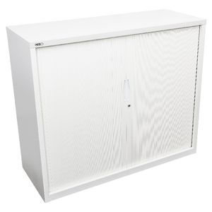 GO Tambour Door Cupboard 1016 x 1200mm White