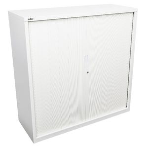 GO Tambour Door Cupboard 1200 x 1200mm White
