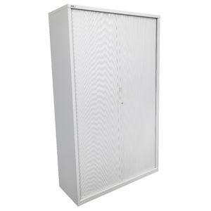 Go Tambour Door Cupboard 1981 X 900mm Silver Grey