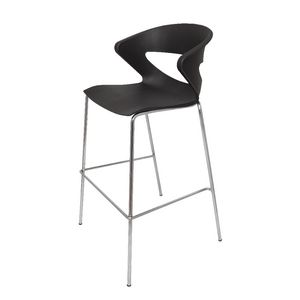 Rapidline Taurus Bar Stool with Chrome Base Black