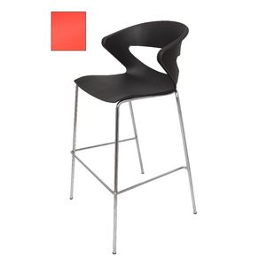 Rapidline Taurus Bar Stool with Chrome Base Red